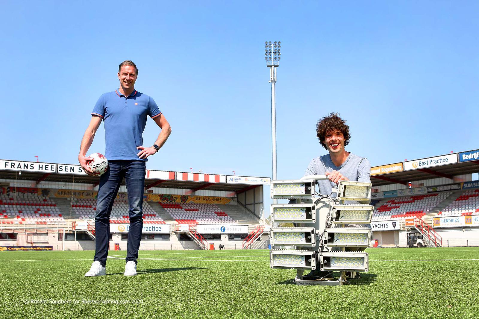 Nieuwe stadionverlichting in het Frans Heesen Stadion!